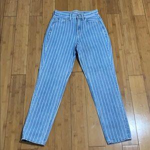 American Eagle 🦅 stripe mom jeans